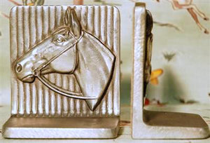 Silver Horse Vintage Bookends HD192