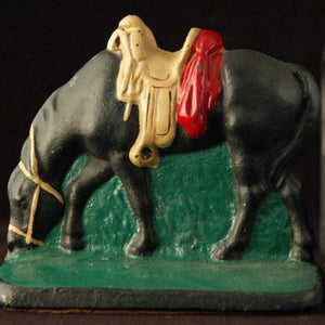 Cast Metal Horse Bookends HD193