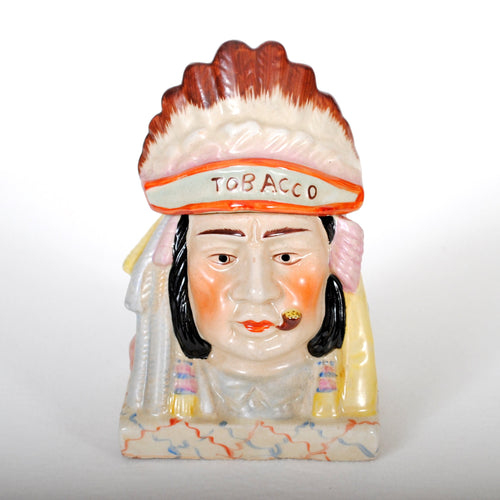 Vintage Tobacciana Humidor as Indian Chief