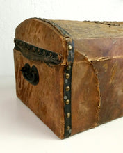 "Load image into Gallery viewer, Antique Document Box Studded with Initials ""E.A.D."" HD195"