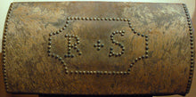 Load image into Gallery viewer, Vintage Studded Document Box with Initials R&S