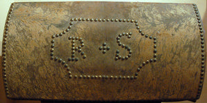 Vintage Studded Document Box with Initials R&S