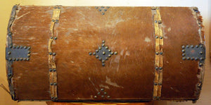 Vintage Rawhide Document Box with Studs
