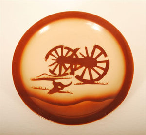 Vintage Tepco China Broken Wagon Wheel Plate