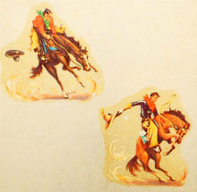 Load image into Gallery viewer, Vintage Fiberglass Wall Sconce with Cowboy Decals