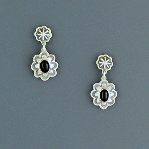 Silver & Onyx Earrings