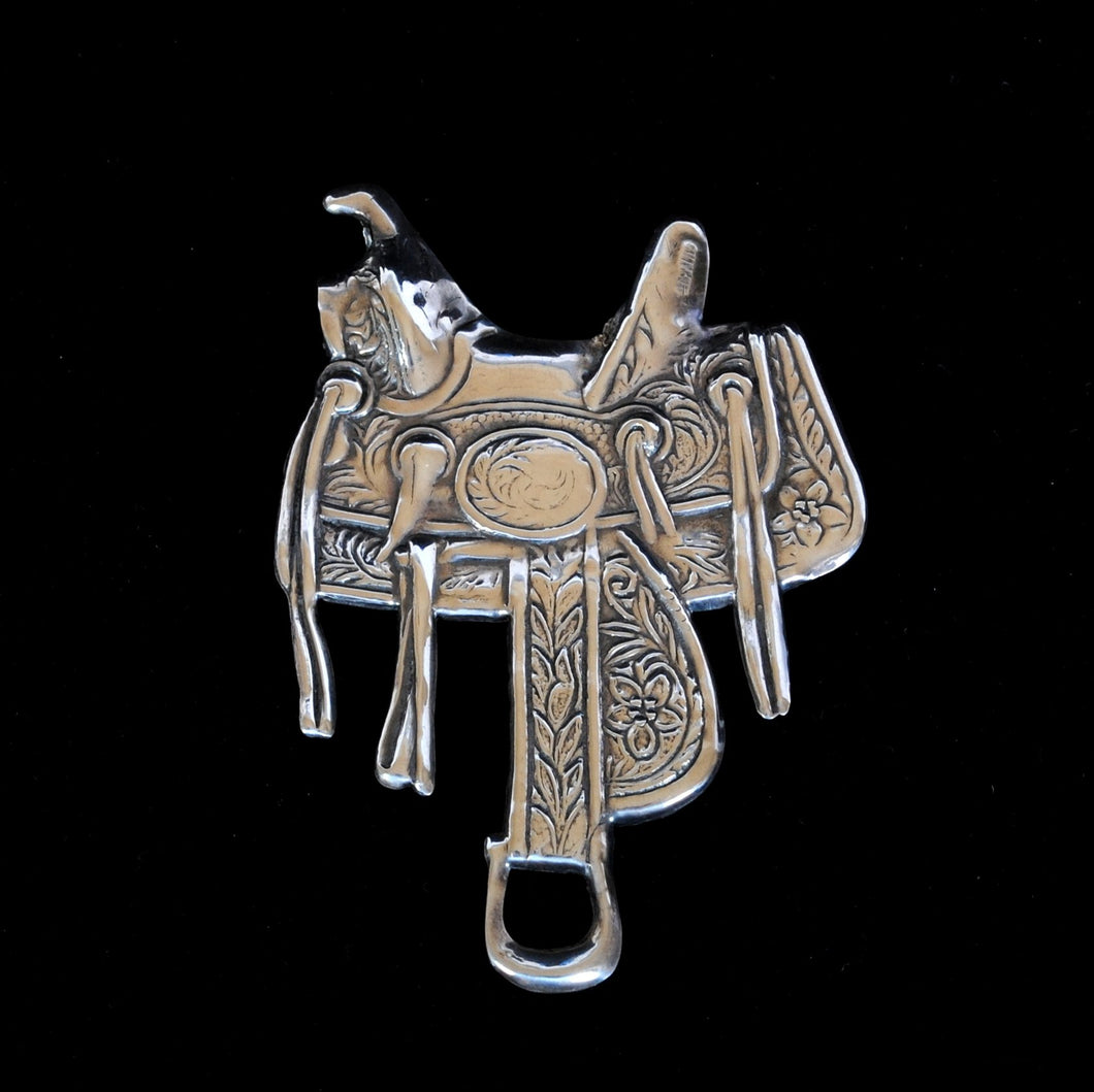 Silver Saddle Brooch JOA234