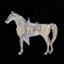 Load image into Gallery viewer, Vintage Silver Brooch of Horse JOA236