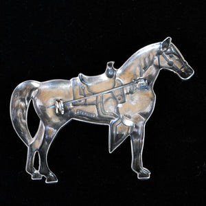 Vintage Silver Brooch of Horse JOA236