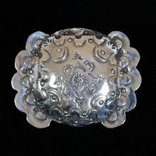 Load image into Gallery viewer, Stamped Silver Belt Buckle JOA240