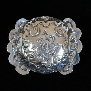 Stamped Silver Belt Buckle JOA240