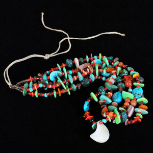 "Navajo Jewelry ""Treasure"" Beaded Necklace JPN102"