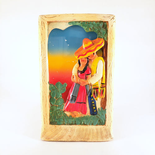 Rare Chalkware Mexicana TV Lamp