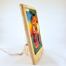 Load image into Gallery viewer, Rare Chalkware Mexicana TV Lamp