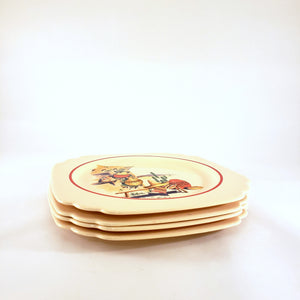 Homer Laughlin Hacienda Riviera Set of 4 Luncheon Plates