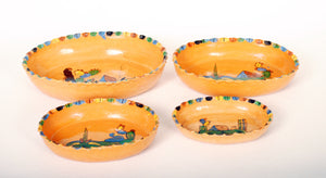 Vintage Mexican Nesting Bowls Redware Pottery
