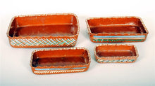 Load image into Gallery viewer, Vintage Mexican Pottery 4 pc Serving set