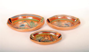 Vintage Tlaquepaque Pottery 3 pc Serving Set