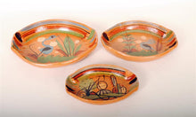 Load image into Gallery viewer, Vintage Tlaquepaque Pottery 3 pc Serving Set