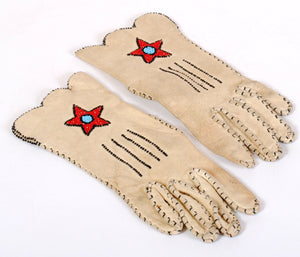 Vintage Beaded Gloves Native American Made
