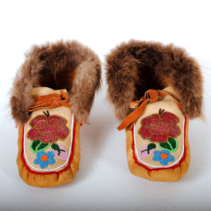 Native American Indian Beaded Moccasins N107