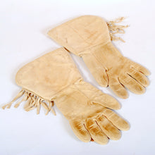 Load image into Gallery viewer, Vintage Leather Gauntlets with Native American Beading N126