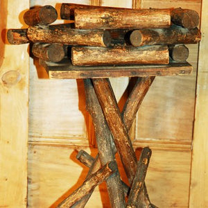 Vintage Rustic Twig Table Plant Stand R103