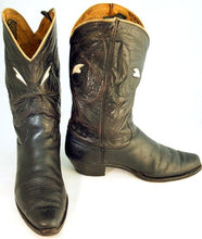 Load image into Gallery viewer, Vintage Mens Justin Cowboy Boots Black sz 10