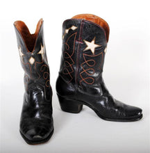 Load image into Gallery viewer, Vintage Cowboy Boots Mens Black VBM107