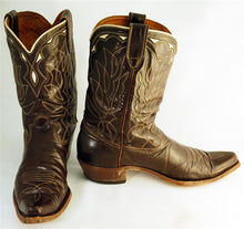 Load image into Gallery viewer, Vintage Mens Cowboy Boots Brown sz 11-1/2B