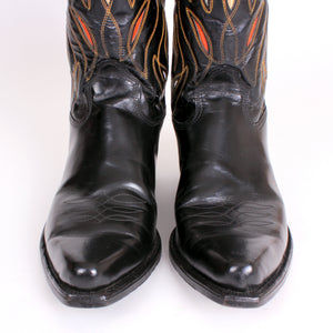 Vintage Black Acme Men's Cowboy Boots