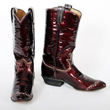 Load image into Gallery viewer, Vintage Tony Lama Cowboy Boots Womens Maroon sz 6A