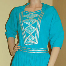 Load image into Gallery viewer, turquoise fiesta dress VC122