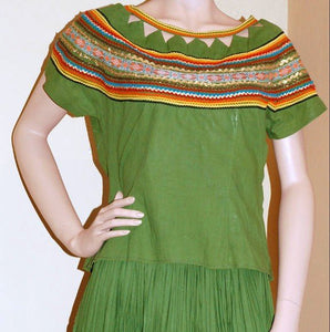 Vintage Outfit Fiesta Dress in Green VC123