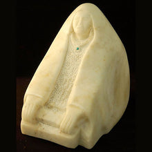 Load image into Gallery viewer, Alabaster Sculpture Native American Art of a Corn Grinder AAA101