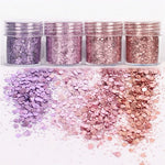 4 pots paillettes décoration Nail Art - nailkeup