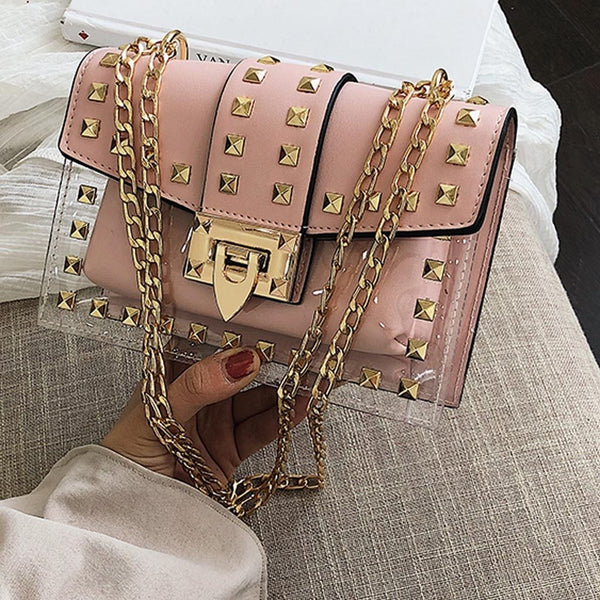 Square Chains Shoulder Handbag