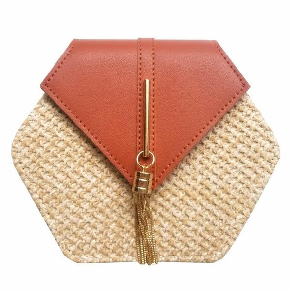 leather Circle Bohemia Shoulder Handbag
