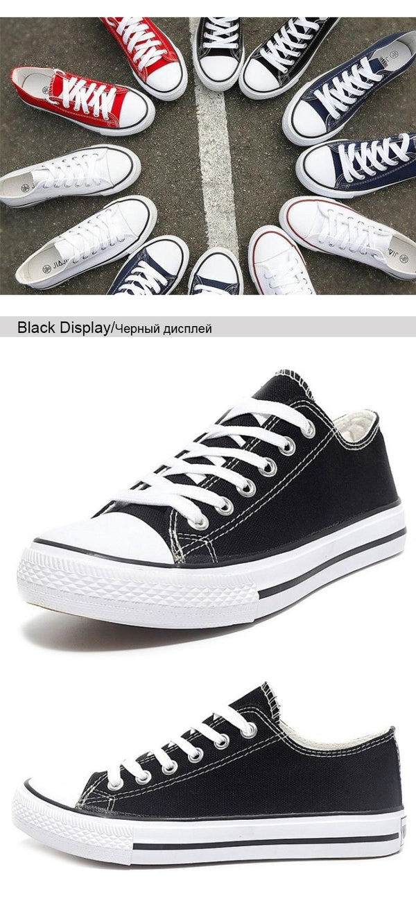 Casual Canvas Lace-up Comfortable Sneakers