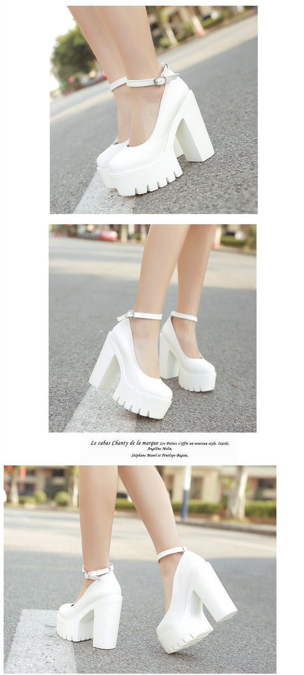 2019 casual high-heeled shoes
