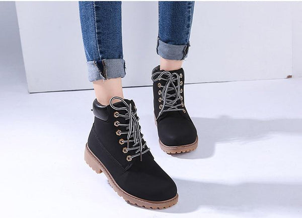 Lace up Winter Ankle Boots