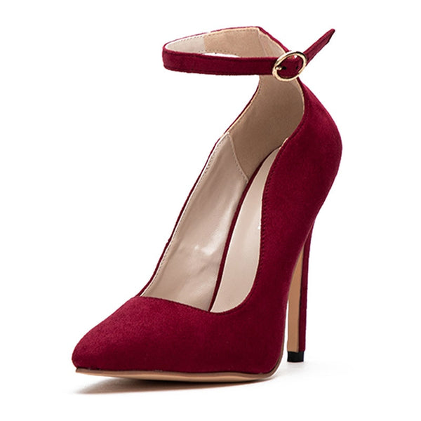 Curve Pumps Pointed Toe Strap