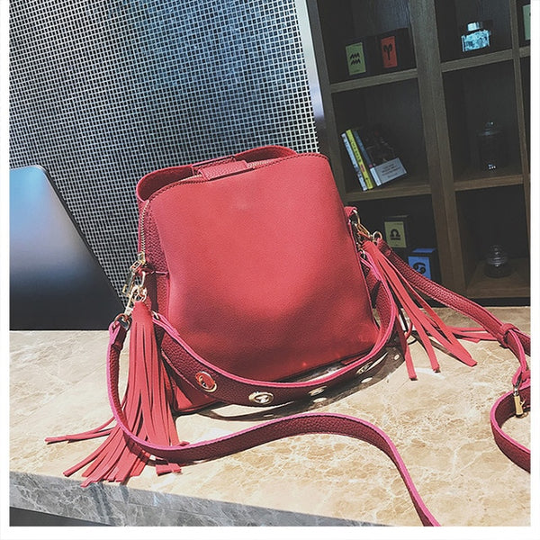 New Fashion Scrub Women Bucket Bag