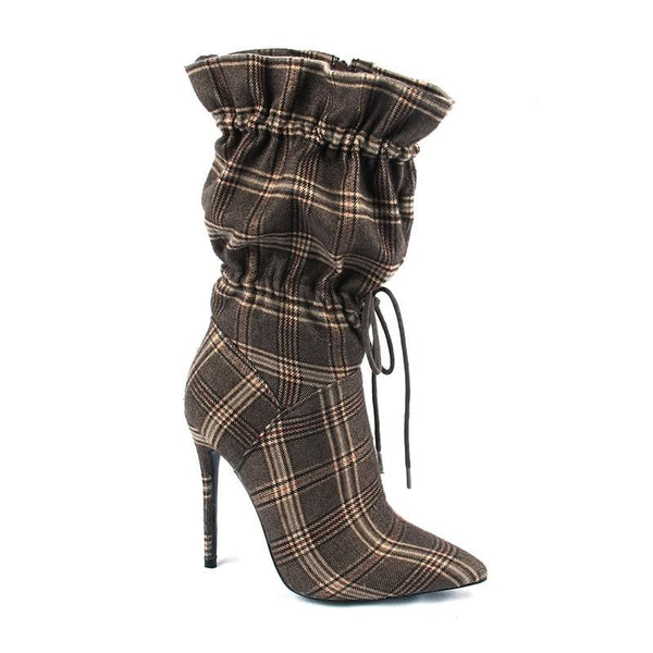 Chic Night Club Camouflage Ankle Stilettos Boots