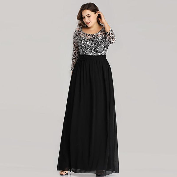 Dresses Party Plus Size Quarter Sleeve
