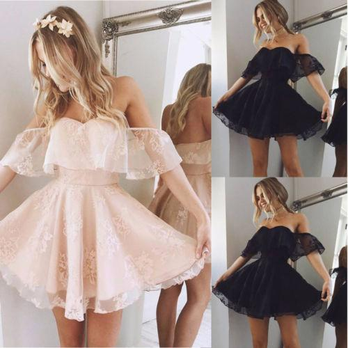 Party Prom Mini Dress Lace Short