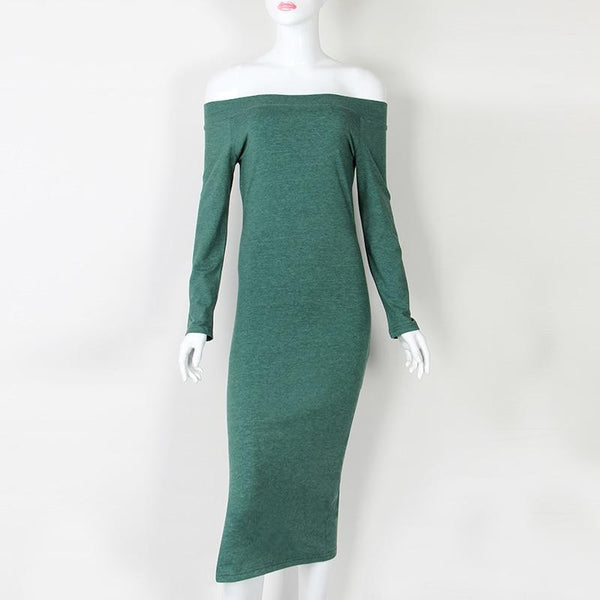 Elegant Slim Jumper Club Midi Party Dress