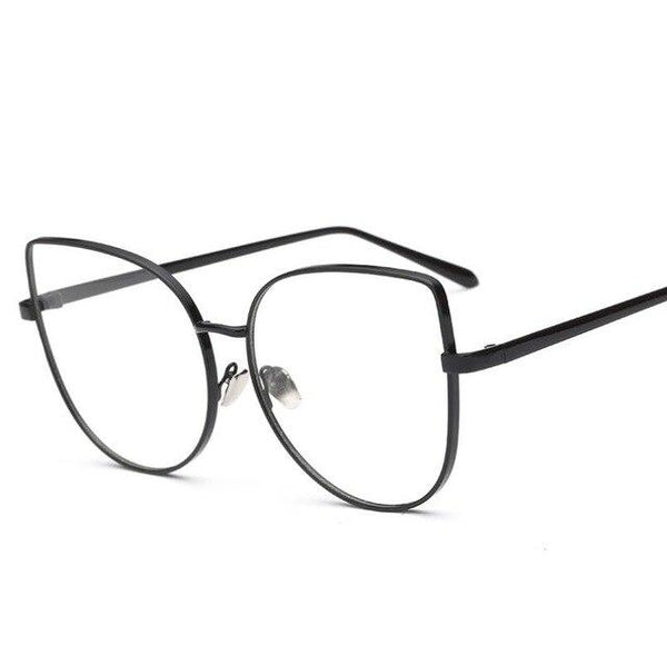 Rimmed Optical Clear Lens Oversized Sun Glasses