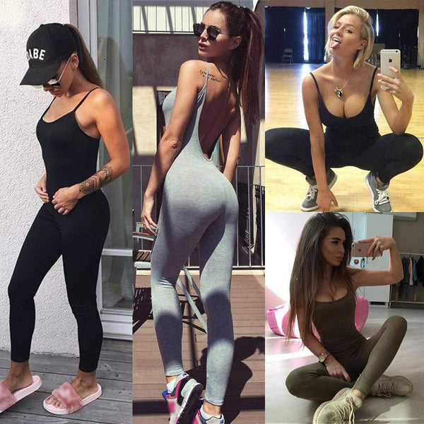 Hot Backless Jumpsuit Sexy Yoga Wear