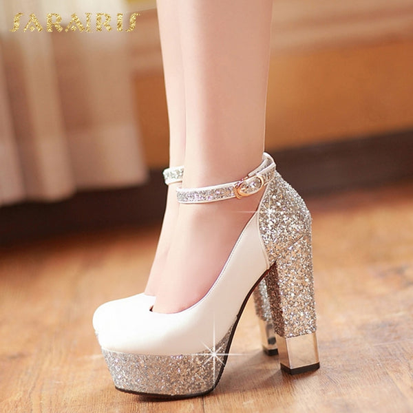 Bling Upper Pumps Women High Heels